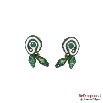 Soutache hand embroidered earrings Nigala