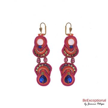 Soutache hand embroidered earrings Portas