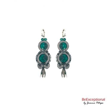 Soutache hand embroidered earrings City Beijing