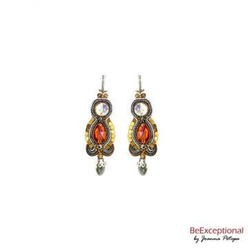 Soutache hand embroidered earrings City Hong Kong