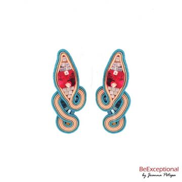 Hand embroidered earrings Skyline Simperia